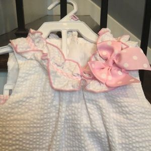 Bonnie Baby Matching Sets - Seersucker two piece toddler outfit